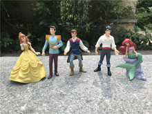 Disney Prince/Princess 3″ Doll Toy Action Figure Ariel Eric Belle Charming Snow White Handpainted No Package