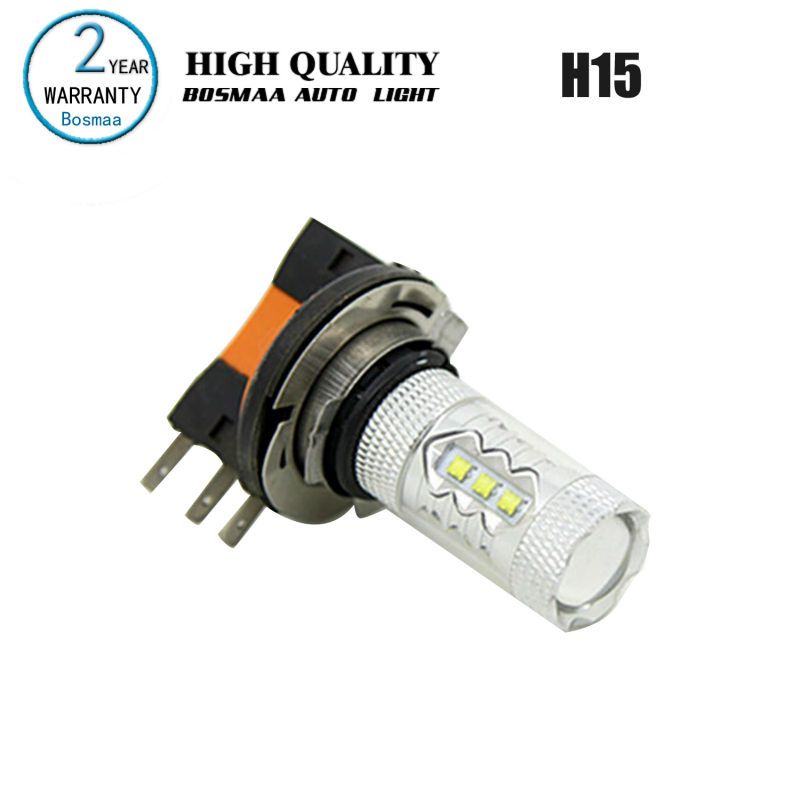 2PCS H15 80W with chips High Power Fog Light Brake Lights Driving Lamp Reversing Lamp Backup light Trun Light Bulbs