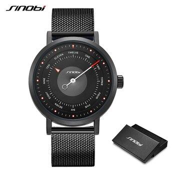 Мужские часы от бренда SINOBI, вращающиеся Креативные мужские спортивные часы, мужские кварцевые часы, мужские повседневные военные водонепро...