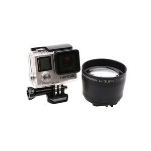 Image 2 - JINSERTA 52mm Zoom Lens for Gopro Digital Camera DSLR Accessory 2.2x Zoom Lens Telephoto For Gopro Hero 5 6 3+ 4 Xiaoyi 4Ki