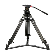 70″ Professional Carbon Tripod kit V15T Video Camcorder Tripod w/ Fluid Head Load 15KG for RED Scarlet Epic FS700 ALEXA mini