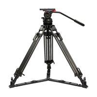 Teris 70 набор с профессиональным Карбоновым штативом V15T Плюс Штатив для видеокамеры w/жидкости нагрузка на голову 15 кг для плёнки камера