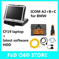 newest for bmw diagnostic software for icom a2 500gb hdd with Toughbook CF19 Car Diagnostic laptop CF 19 touch&rotate screen