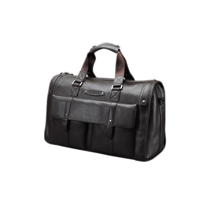 fc88f4b600a0 Baigio Men Bag Split Leather Travel Bag Retro Brown Overnight Duffle Bags  Best Designer Travel Hand Luggage Totes Shoulder Bag-in Travel Bags from  Luggage ...