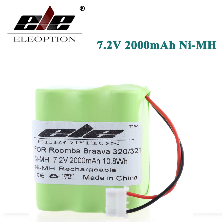 ELEOPTION 7.2V 2000mAh Ni-MH <font><b>Battery</b></font> For iRobot Braava 320 <font><b>321</b></font>/Mint 4200 4205 Floor Cleaner Robot 4408927