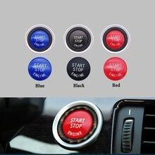 цена на Car Engine START Button Replace Cover STOP Switch Button Decoration for BMW X1 X5 E70 X6 E71 Z4 E89 3 5 Series E90 E91 E60
