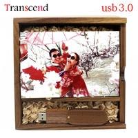 Transcend Nhiếp Ảnh Photo Gallery Gỗ usb + hộp USB Flash Drive 4 GB 8 GB 16 GB 32 GB Bút Drive Pendrive usb3.0
