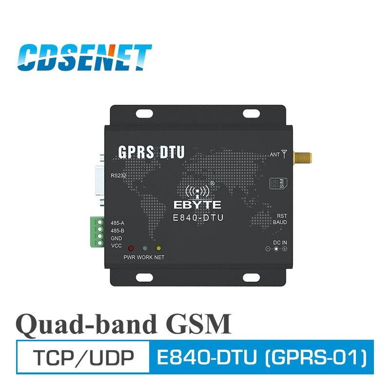 GPRS Transceiver Module RS232 RS485 GSM Wireless Transmitter CDSENET E840-DTU Quad-band 850/900/1800/1900MHz Reciever Module
