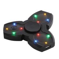 LED Light Fidget Fidget Spinner Finger ABS EDC Spinner Tri For Kids Autism ADHD Anxiety New Stress Relief Focus Handspinner