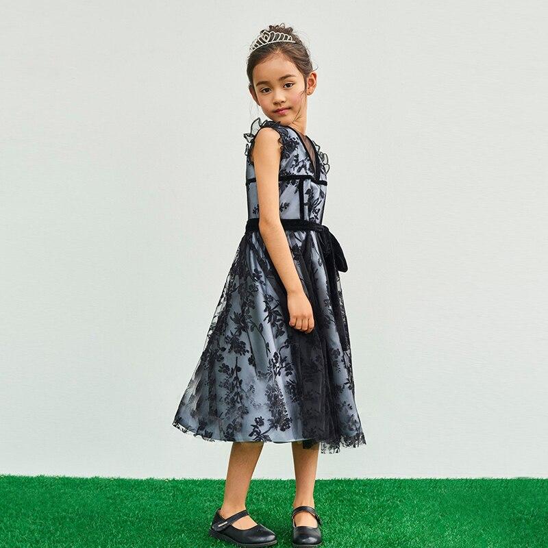 Mère et fille vêtements pour la fête de mariage dentelle maman et fille robe de soirée élégante famille correspondant vêtements tenues - 3