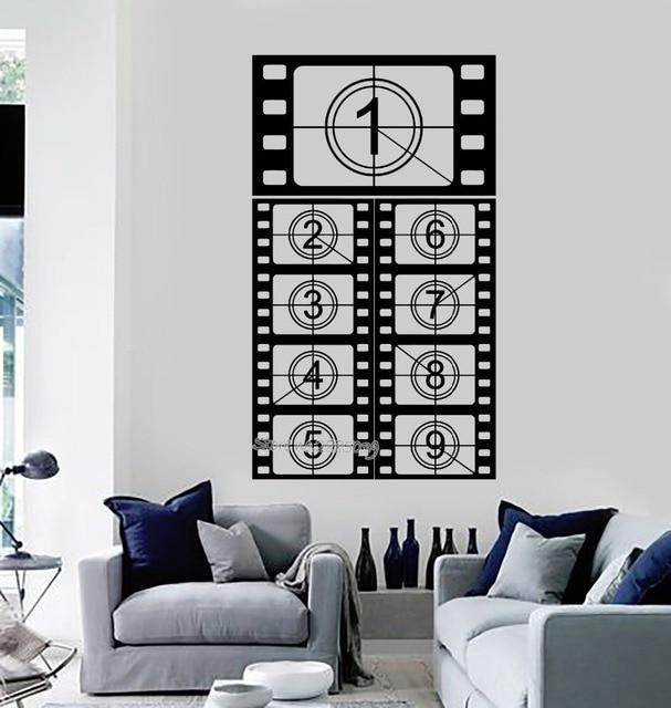 Film Strip Vinyl Wall Decal Cinema Room Filming Movie Art Stickers ...