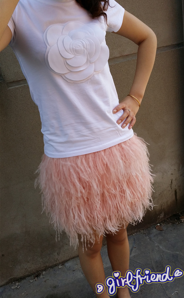 dcfde88f54f Free shipping 45cm(17.71 inches) length multi layer ostrich feather skirt  with elastic waistband   WSKT15008-in Skirts from Women s Clothing    Accessories ...