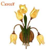 Art Decor цветок канделябр освещения для Спальня домашний декор для кухни кафе прикроватная лампа ночник G4 лампы