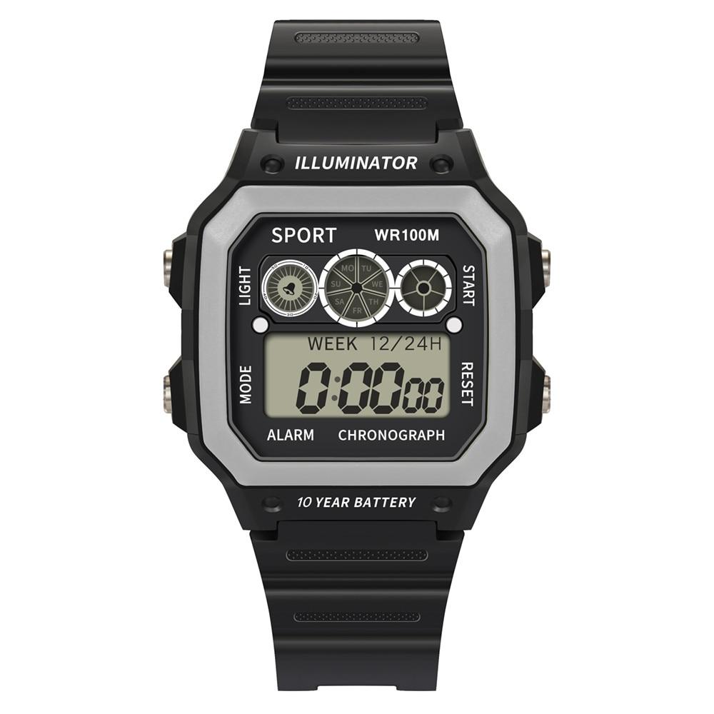 High End 50 Meters Waterproof Electronic Watch Luxury Men Analog Digital Watch Military Sport LED Square The Man Wrist Watch*S