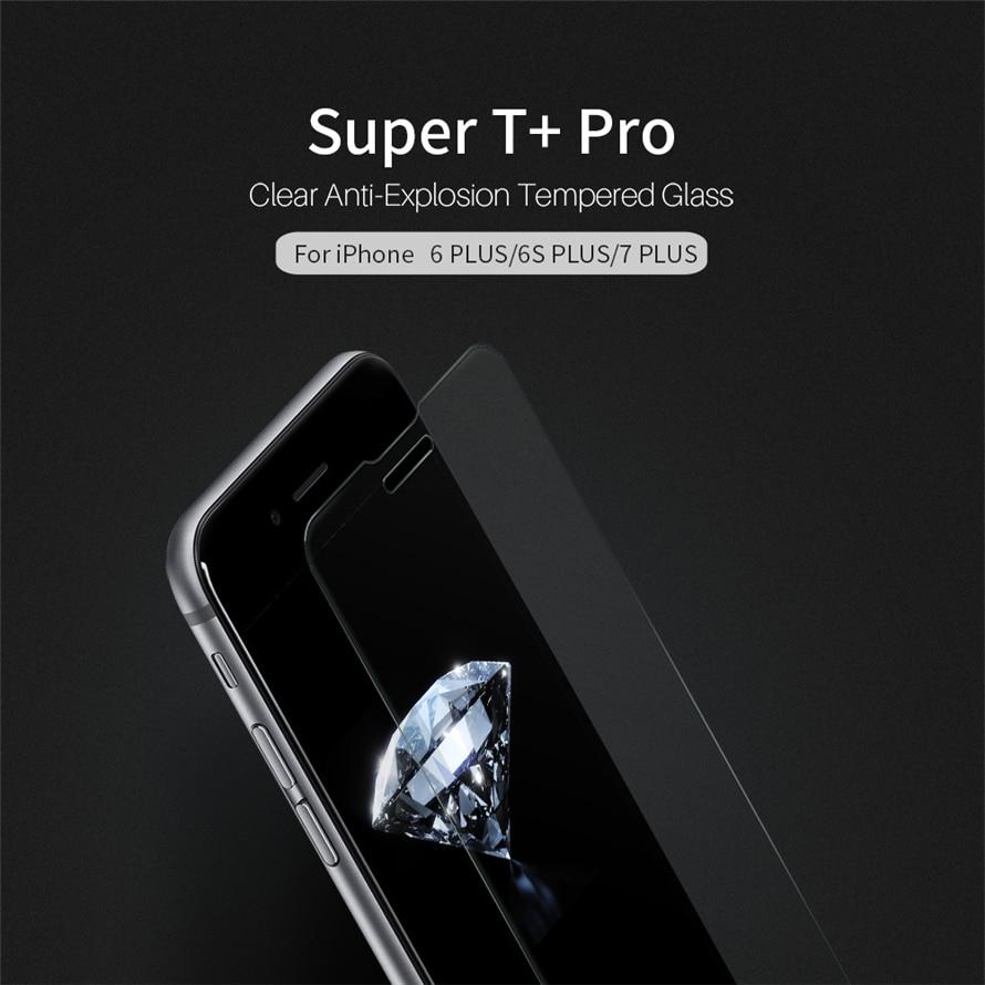 imágenes para NILLKIN Súper T + Pro para el iphone 6 S Plus Ultra Delgado de 0.15 MM Transparente Anti-Explosión de Cristal Templado para el iphone 7 más