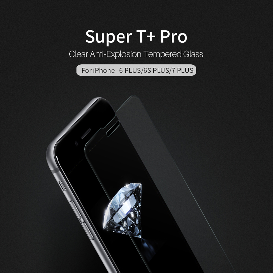 Цена за NILLKIN Супер t + Pro для iPhone 6 S плюс ультра тонкий 0.15 мм Clear Anti-Explosion закаленное стекло для iPhone 7 Plus