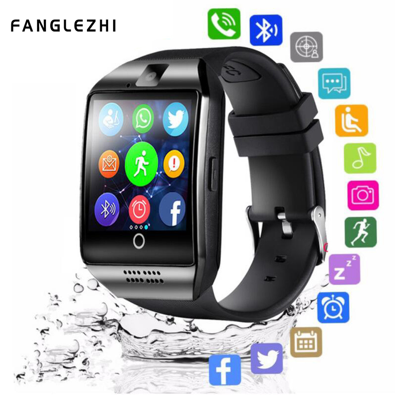 Smart Watch Bluetooth Q18 Smartwatch Phone with SIM Card Camera Touch Screen Clock Men for IOS Android
