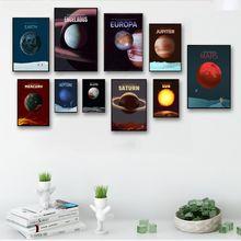Минималистичная Абстрактная Картина на холсте с солнечной системой