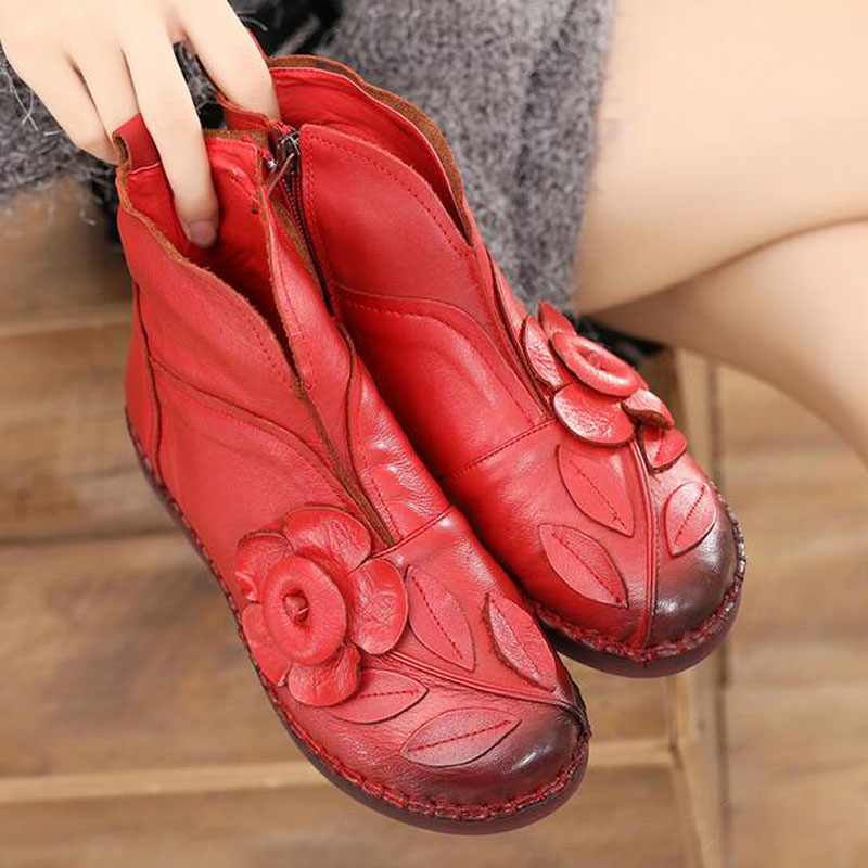 Cadeau De Cuir Mode Bas Non À L'intérieur En Peluche Chaussures Bottes purple red Véritable slip Black Femmes 2018 D'hiver tQxhrsdC