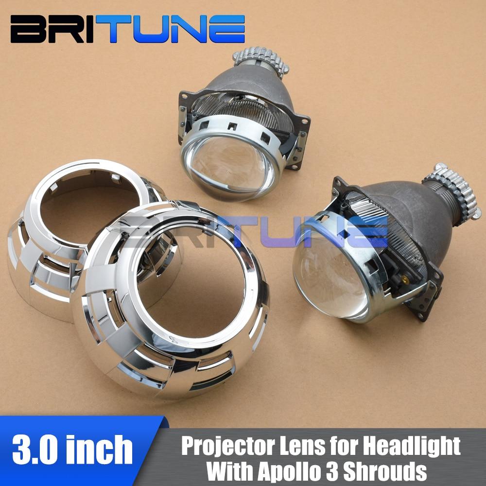 Bi xenon Lens Projector Headlight Lenses Q5 D2S Mini Apollo 3 0 For Auto H4 Cars