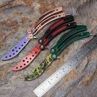 Csgo Butterfly Knife Training Knife Gift Knife Cs Go Counter Strike Karambit Titanium Balisong Knife Dull