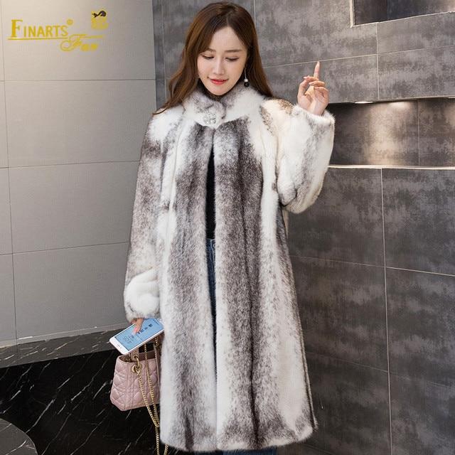 Genuine Mink Fur Clothes Long Winter Warm Fashion Women Real Mink Fur Coat New Women Fur Jacket Female Noble Lady Clothing
