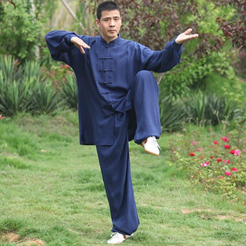 USHINE Tai chi uniforme coton 5 couleurs haute qualité enfants vêtements arts martiaux adultes Kung fu aile Chun Wushu Costume