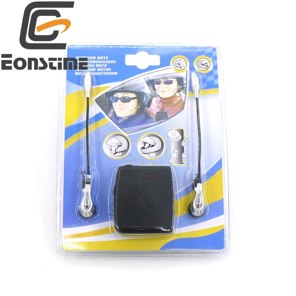 Eonstime Hot Sale 12V Motorbike Motorcycle Helmet To Helmet Intercom Headset MP3 Drop Shipping Free Shipping #730