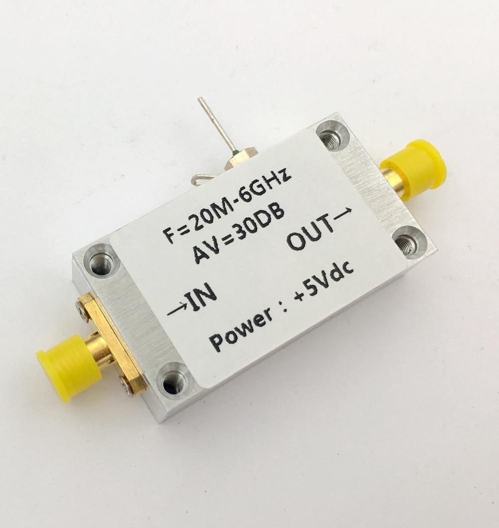 20 MHZ à 6000 MHZ 6 GHz RF amplificateur à large bande 30dB Module LNA à faible bruit pour télécommande récepteur radio FM tv