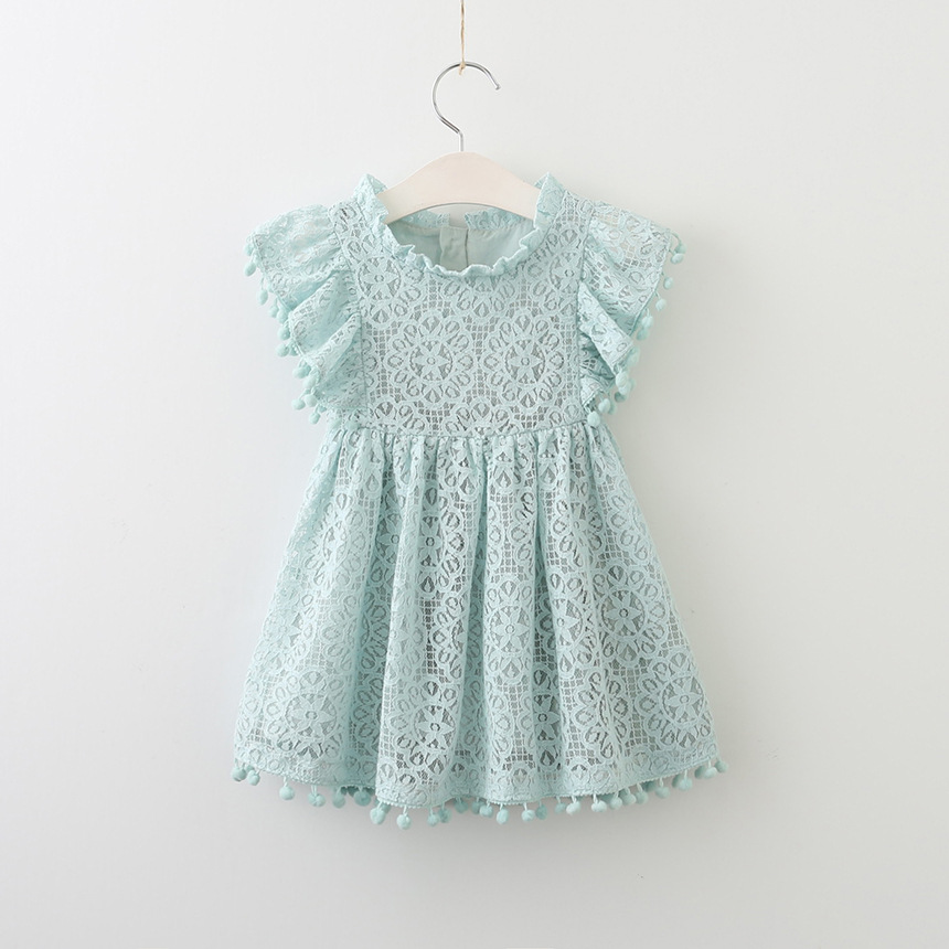 Girls Dress Spring Autumn European and American Style embroidery Flower vest dress toddler Baby Girls clothing 2-8Yrs