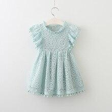 Bébé Filles Robe Marque D'été Plage Style dentelle Robes Pour Les Filles Vintage Enfant Fille gland Vêtements 2-7ans
