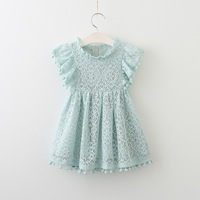 Baby Girls Dress Brand Summer Beach Style Lace Dresses For Girls Vintage Toddler Girl Tassel Clothing