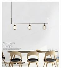 Nordic Glass LED Creative Pendant Light European-style Luxury Lamps Moderm Indoor Lighting Restaurant