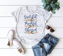 thankful blessed t-shirts women tee top womens fashion 2019 tshirt pink 90s tees aesthetic christmas plus size punk