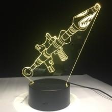 Lampa 3D Fortnite Battle Bohaterowie 7-Kolorów LED USB