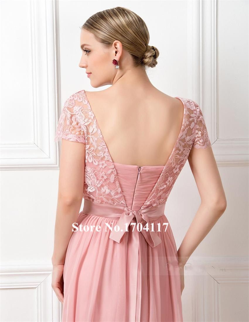 Moderno Melocotón De Color Rosa Vestidos De Dama De Honor Molde ...