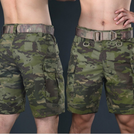 Men Outdoor Military Tactical Camouflage Cargo Short Trouser Summer Sports Climbing Camping Hunting Hiking Length Half Shorts