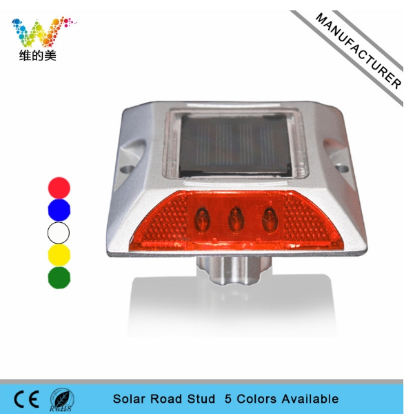 Square Aluminum LED Cat Rye Reflector Solar Road Stud With Anchor