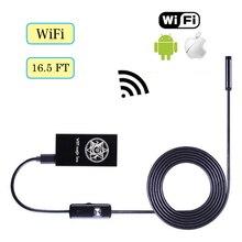 Girid portátil WIFI Endoscópio Mini Câmera À Prova D' Água Câmera de Inspeção De Cabo 5.5mm 2 m/m USB Endoscópio 5 para iPhone Android