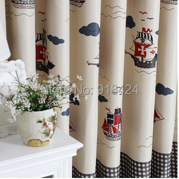 Superior Size:1.5*2.7m Finish Products Pirate Ship Grid Boys Bedroom Blackout  Curtains,Kids Curtain And Voile,Free Shipping. In Curtains From Home U0026  Garden On ...