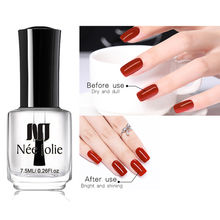 NEE JOLIE 8ml/7.5ml Nails Protector Oil 3.5ml Base Coat Top 2-in-1 Shine Matte Effect For Nail Art Polish Varnish Fast Dry
