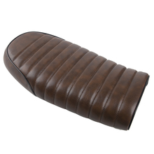 Motorcycle Seat Cushion Hump Custom Refit Flat Vintage Saddle Black/Brown For Honda CB CL Retro Cafe Racer
