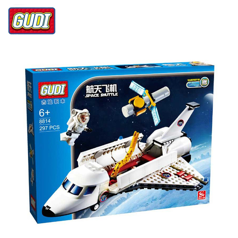 GUDI 8814  Space Shuttle Building Blocks Educational Toys DIY Bricks Children Gifts Let The They Experience Different Pleasures