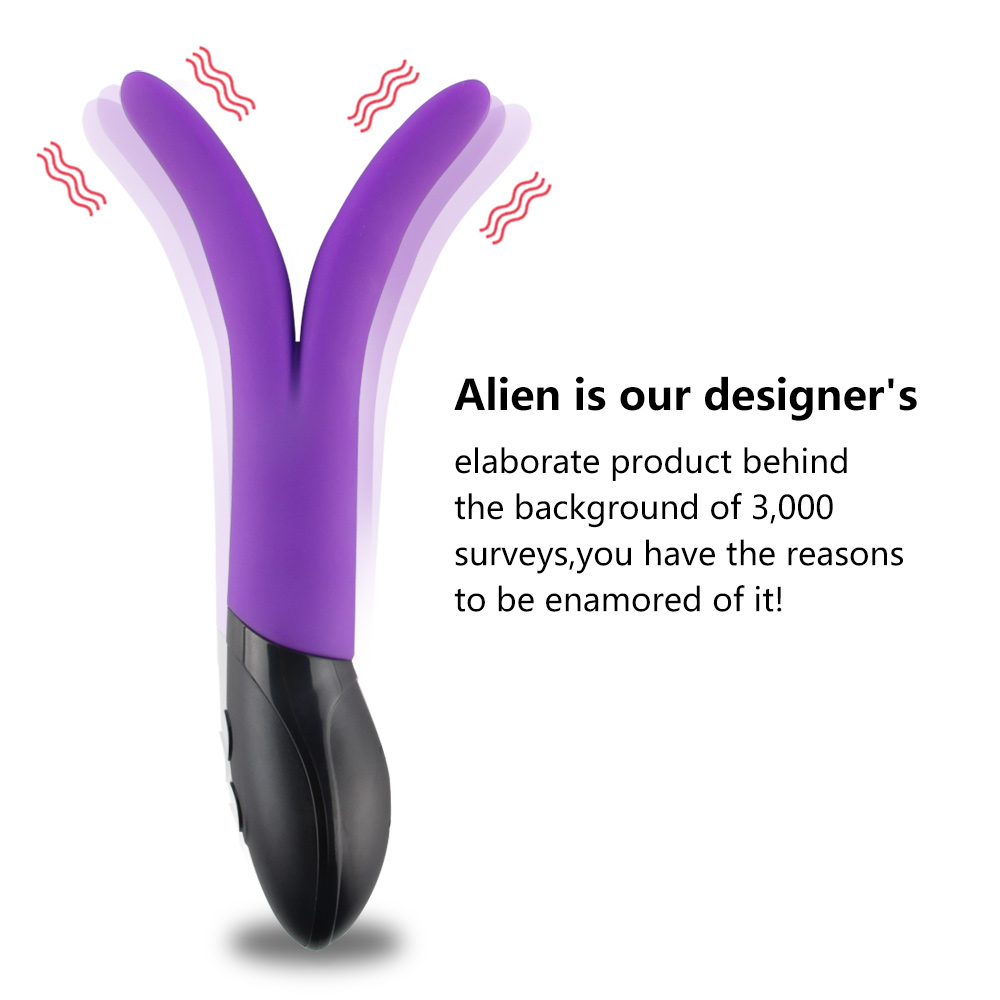 APHRODISIA Waterproof Rabbit Vibrator, Rechargeable G spot Massager Sex Toy, Silicone Dual Motors Vibrator for Women Sex Machine