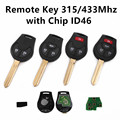 Remote Car Key for Nissan Tiida Sylphy Maxima Altima Sentra Versa March Sunny 315Mhz/433MHz with Chip PCF7946