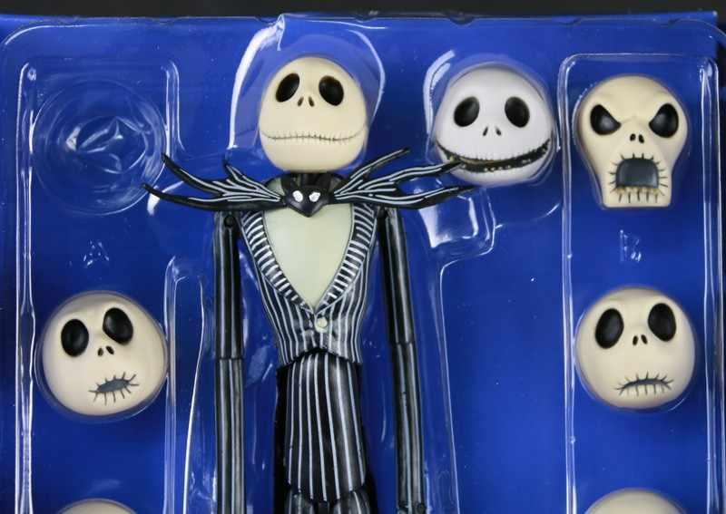 Animação The Nightmare Before Christmas Jack Skellington Vinil PVC Action Figure Modelo Coleção Toy Boneca