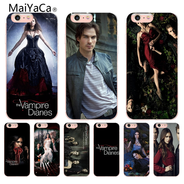 Initiative Maiyaca The Vampire Diaries Novelty Fundas For Iphone 4 5s 6s 7 8 Plus X Xr Xs Max Phone Cases Transparent Soft Tpu Cover Cases To Make One Feel At Ease And Energetic Cellphones & Telecommunications Phone Bags & Cases