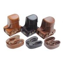 Из искусственной кожи Камера сумка чехол для Canon EOS M10 M100 15-45 мм 55-200 мм 5 объектив Цвета