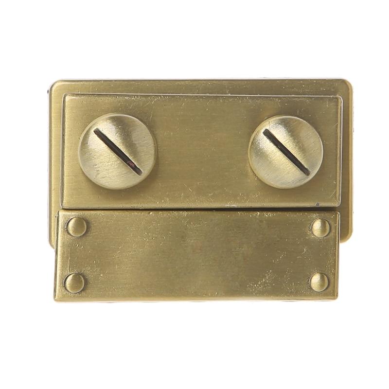 все цены на THINKTHENDO 1PC Women Bag Making Metal Push Lock Briefcase Square Lock Hardware Accessories онлайн