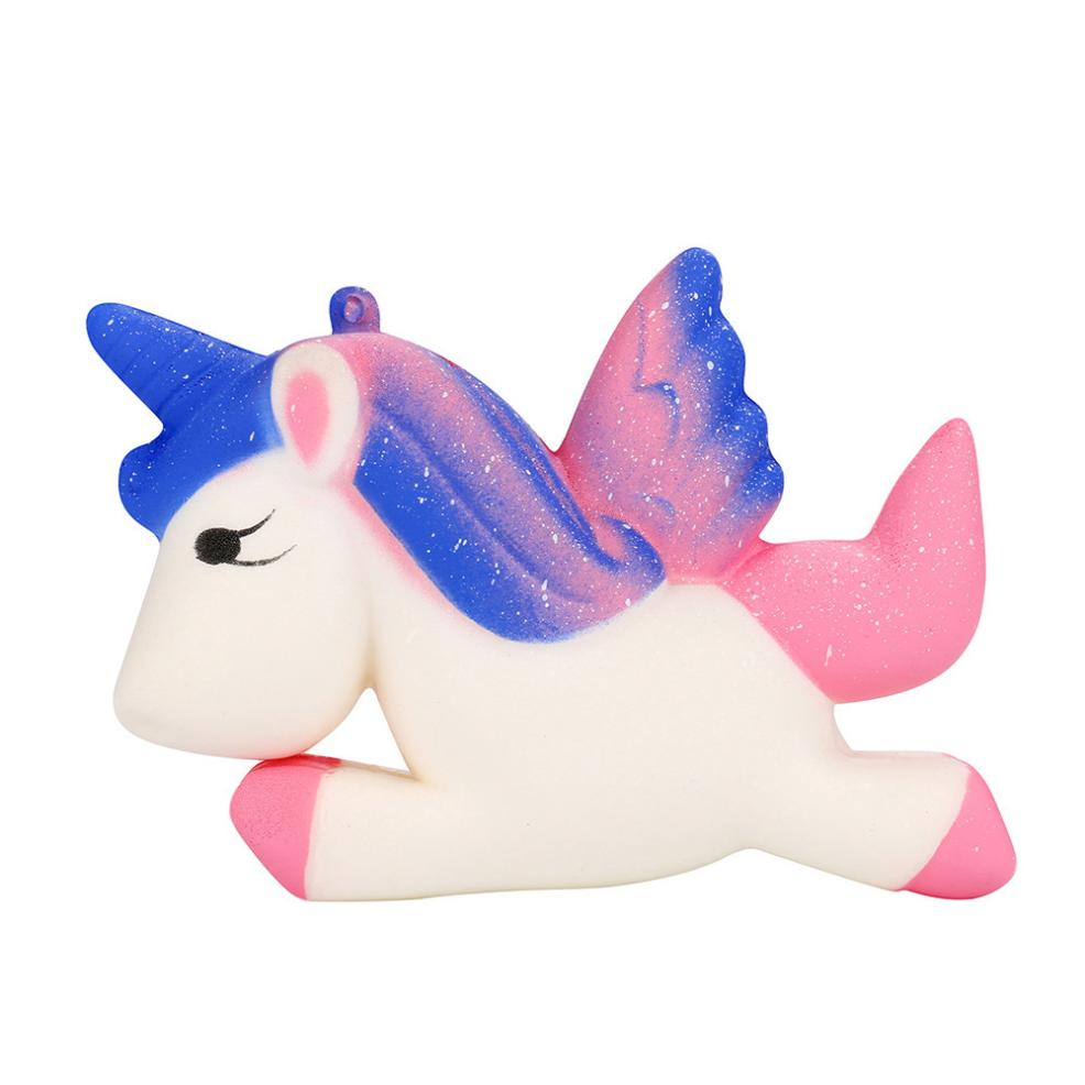 Kawaii Unicorn Squishy Toy Slow Rising Cartoon Doll Cream Scented Decompression Squeeze Toys Stress Reliever Nice Gift